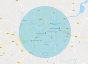 Zone d'intervention informatique communauté de communes de Dinan